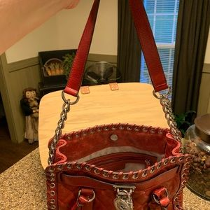 Michael Kors Red Distressed Leather Bag